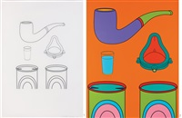 study for common history-none of the above, common history: none of the above (2 works) by michael craig-martin