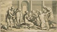 die anbetung der hirten (after parmigianino) by antonio maria zanetti