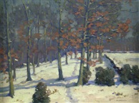 winter landscape by william chadwick