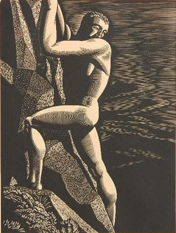 mountain climber by rockwell kent