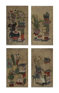 scholar's accouterments (cahekgori) (4 works) by anonymous-korean (19)