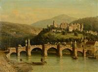 vue d'heidelberg by johannes joseph destree