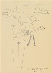 senza titolo 28-1-1961 by victor brauner