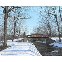 the delaware canal in march by jeff gola