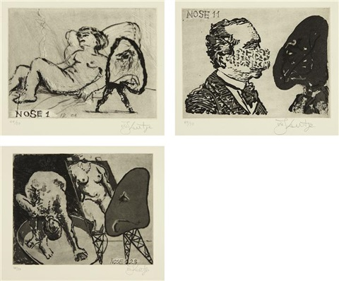 nose 1 11 and 23 3 works by william kentridge