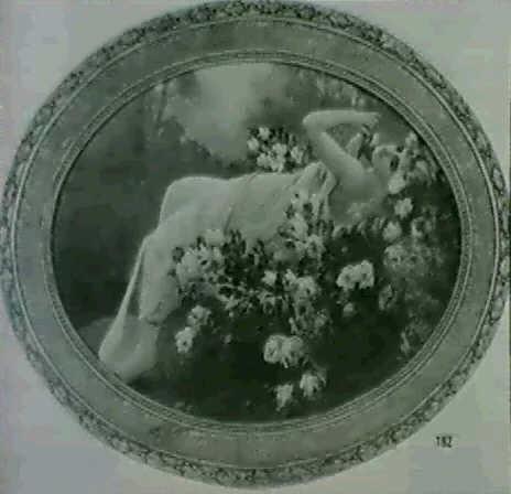 nymphe etendue sur un lit de roses by f. rekicki