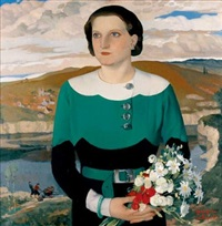 portrait de femme by georges popoff