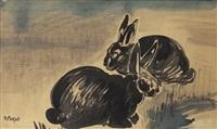 deux lapins by raymond bigot