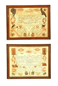 birth records for johann and margaretha molleber (pair) by johann jacob friedrich krebs
