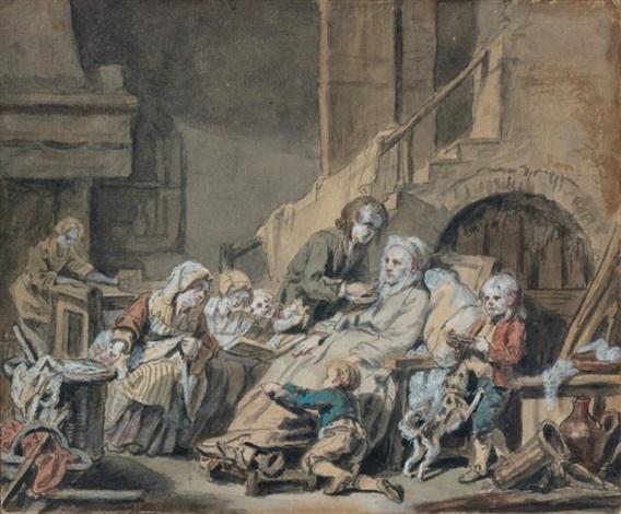 le père paralytique servi par ses enfants ou le fruit de la bonne éducation by jean baptiste greuze