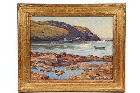 the harbor monhegan by william chadwick