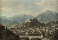 panoramablick auf salzburg vom kapuzinerberg by franz kulstrunk