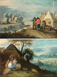 saisons: l'eté l'hiver (pair) by theobald michau