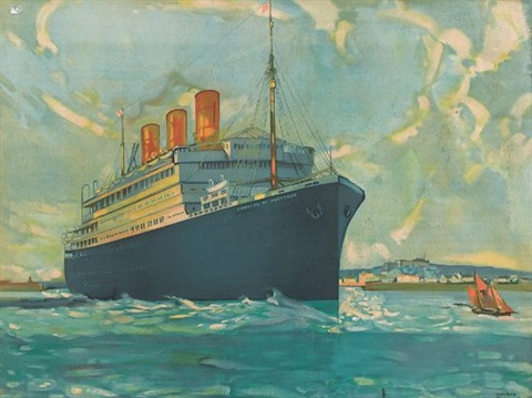 empress of australia canadian pacific steamship by leonard richmond