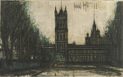 londres le parlemet by bernard buffet
