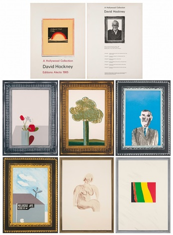 a hollywood collection complete set of 6 works by david hockney
