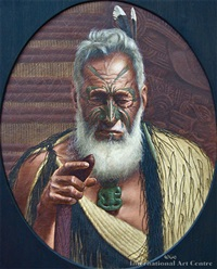 tikitere mihi - a chieftain of the ngatiuenuku by phillip waddington