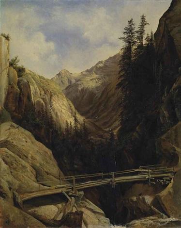 a la cascade de la handeck by alexandre calame