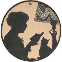 portrait in silhouette of zinaida serebriakova by elizaveta sergeevna kruglikova