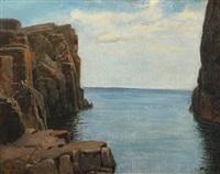 rocky coast from bornholm by anton laurids johannes dorph