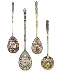 spoons (collab. w/ ovchinnikov, maria semenova; set of 4 works) by nikolai alekseev