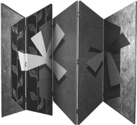 abstract (five panelled folding screen) by david solomon