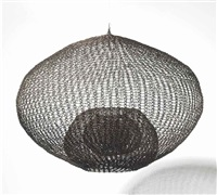 untitled (s.082 hanging single sphere, five-layer continuous form within a form) by ruth asawa