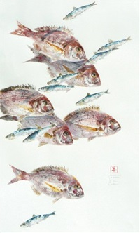 daurades roses et sardines by jean pierre guilleron