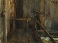 in der badehütte by wilhelm trübner