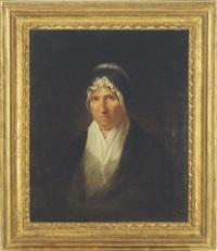 portrait of mrs. william channing by washington allston