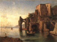 posillipo in the bay of naples by c. smith