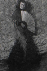 woman with fan by frederick lester sexton
