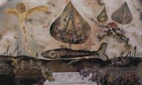 komposition mit fisch by jan janczak