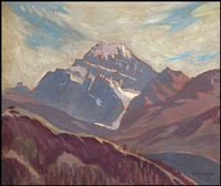 mount rundle by joseph ernest sampson