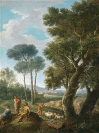 ziegenhirten in der römischen campagna by andrea locatelli
