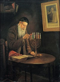hanukkah candles by s. kendall