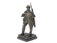 an important bronze figure of a british infantryman of the great war by william mcmillan