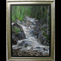 plunging waters, rogers pass by peter etril snyder