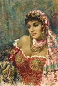 retrato mujer oriental by julio garcia gutierrez