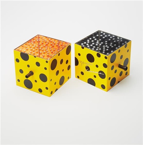 mirror box type a and mirror box type b 2 works by yayoi kusama