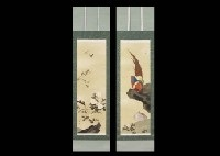 long spring with birds (2 works) by koyo ishizaki