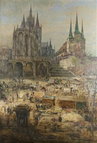 markt in erfurt by paul geissler