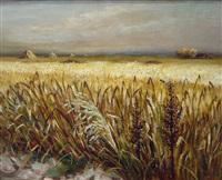 champs de blé aux alentours d'arles by marcel dyf