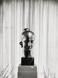 untitled (elie nadelman sculpture on display in the home of james sibley watson, rochester, new york by minor white