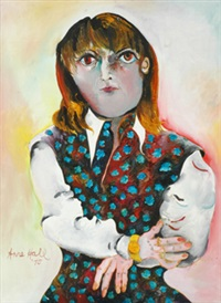 portrait of claudia wright 1975 by anne marie hall