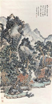 山水 (landscape) by an du