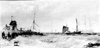 Shipping off a signal station, 1855