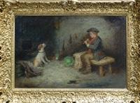 мальчик с собакой by mark william langlois