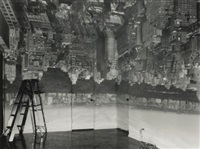 camera obscura, image of manhattan, looking west in empty room by abelardo morell