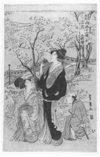 sakura-moyo (kirschblüte: der monat märz) by utagawa toyohiro